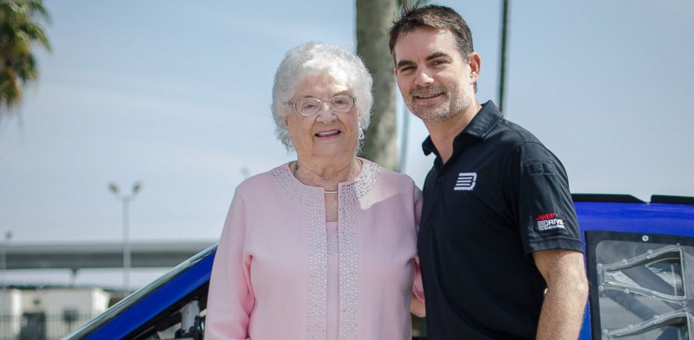 PHOTO: Wish of a Lifetime, a nonprofit that grants wishes to senior citizens, granted Barbara Yocums wish to meet NASCAR star Jeff Gordon and attend one of his races.
