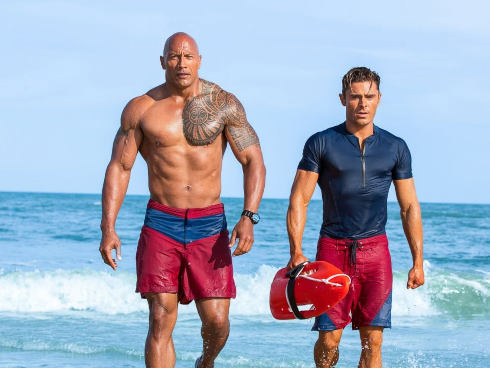 PHOTO: Dwayne Johnson and Zac Efron in a scene from the film Baywatch.