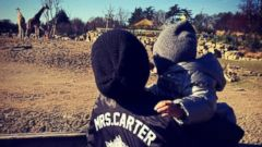 Beyonce Takes Blue Ivy to the Zoo