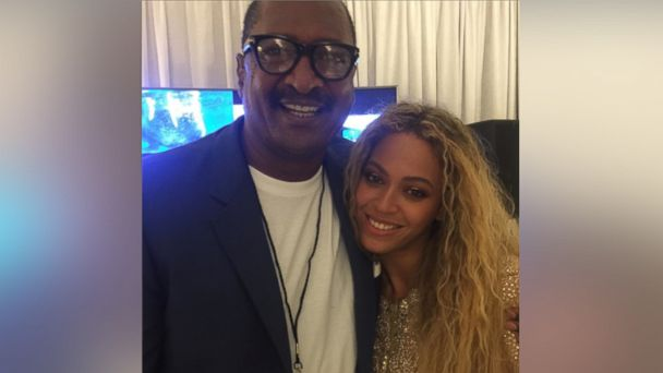 PHOTO:Mathew Knowles and his daughter, pop star Beyonce, pose for a photo taken May 7, 2016.