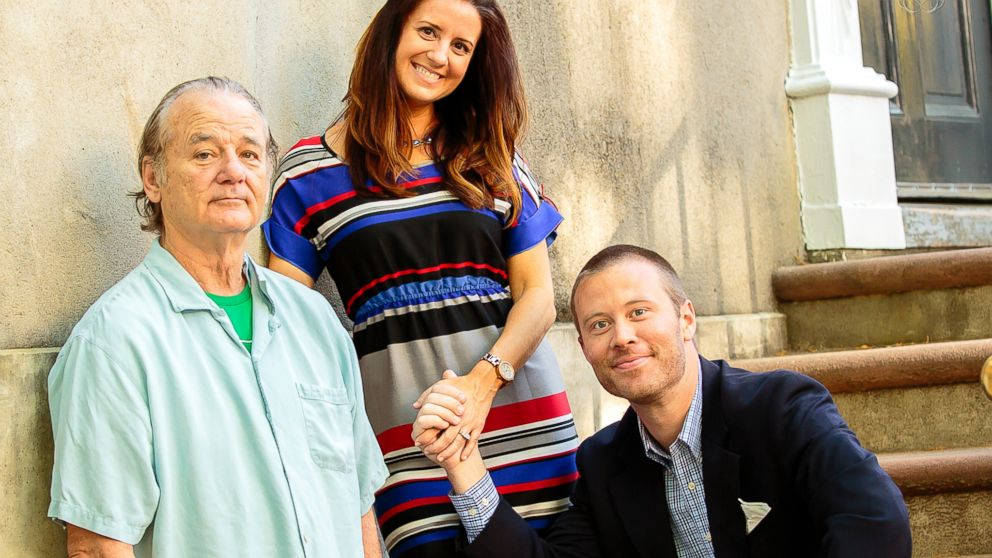 PHOTO: Bill Murray crashed this couples engagement photos.