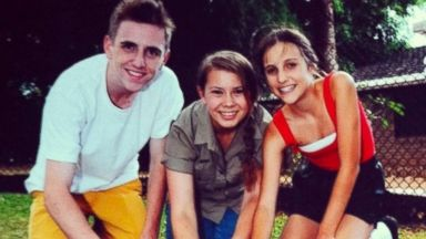 PHOTO: Bindi Irwin, center, in a photo posted to Instagram Nov. 10, 2013. Bazz Lancaster is at right.