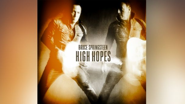 "Album art for Bruce Springsteens record ""High Hopes."""