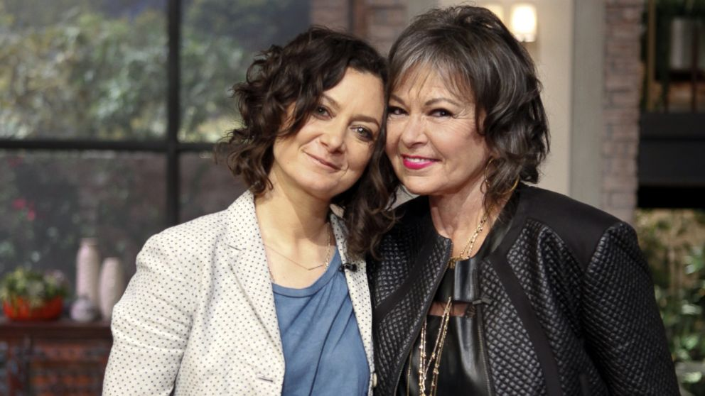"PHOTO: Roseanne Barr and Sara Gilbert on ""The Talk,"" Aug, 5, 2014."