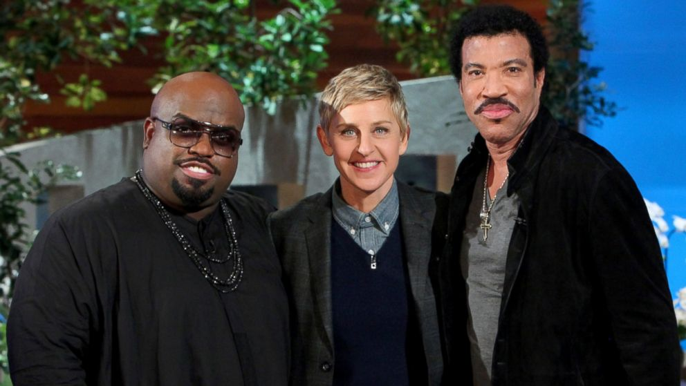 "PHOTO: Singers Lionel Richie and Ceelo Green make an appearance on ""The Ellen DeGeneres Show,"" Feb. 19, 2014."
