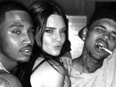 Kendall and Kylie Jenner Hang With Chris Brown and Other Surprising Celebs