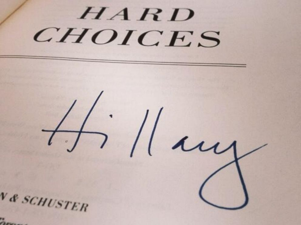 PHOTO: Chris Colfer tweeted this image of his signed copy of Hillary Clintons Hard Choices,