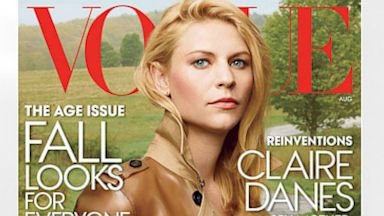 PHOTO: Claire Danes appears on the cover of Vogue Magazines 2013 August issue.