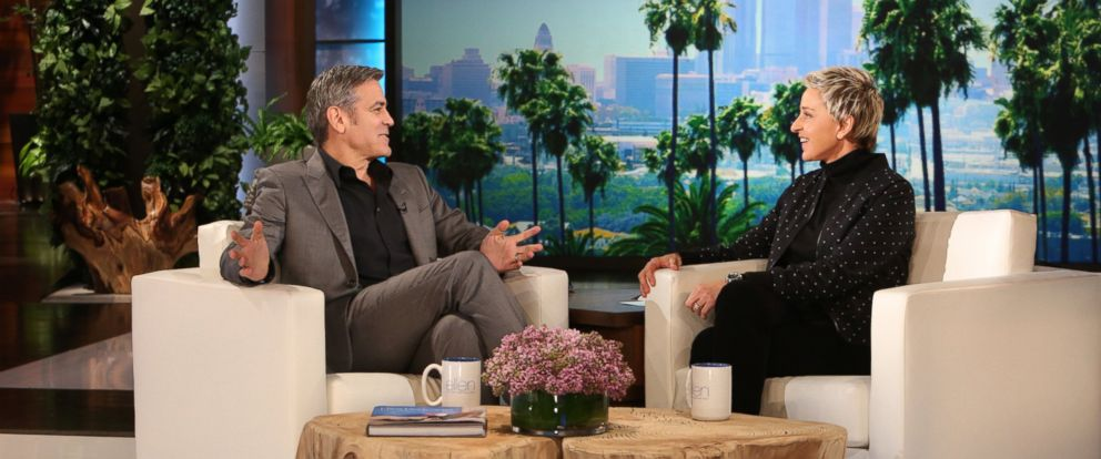 "PHOTO: George Clooney appears on ""The Ellen DeGenres Show,"" Feb. 4, 2016."