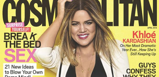 PHOTO: Khloe Kardashian graces the cover of Cosmos April issue.