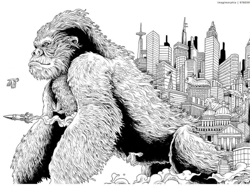 PHOTO Kerby Roseanes Intricate Drawings Are Displayed In His Coloring