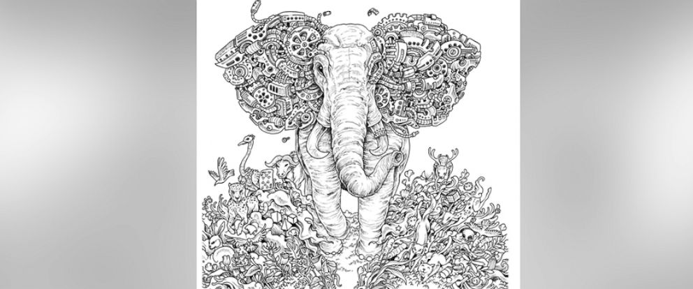 PHOTO Kerby Roseanes Intricate Drawings Are Displayed In His Coloring Book Imagimorphia