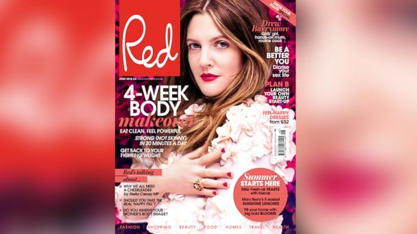 HT drew barrymore red magazine jtm 140428 16x9 608 Drew Barrymore Talks Motherhood, Learning to Cook