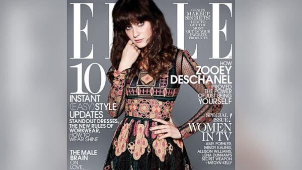 HT elle magazine zooey deschanel sk 140108 16x9 608 Mindy Kaling Defends Elle Cover