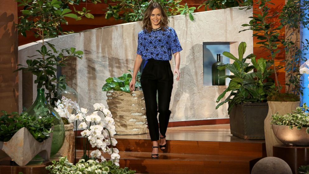 "PHOTO: ""Edge of Tomorrow"" actress and new mom Emily Blunt makes an appearance on ""The Ellen DeGeneres Show,"" May 14, 2014."
