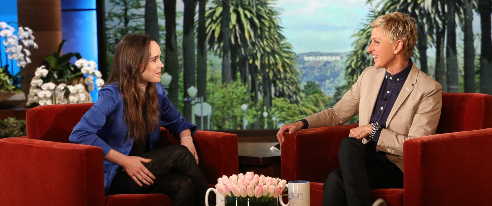 "PHOTO: ""X-Men: Days of Future Past"" actress ELLEN PAGE makes an appearance on ""The Ellen DeGeneres Show"" airing later this month."