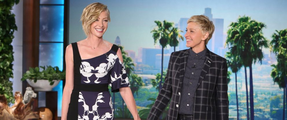 Ellen degeneres and portia de rossi address baby rumors abc news - Ellen show address ...