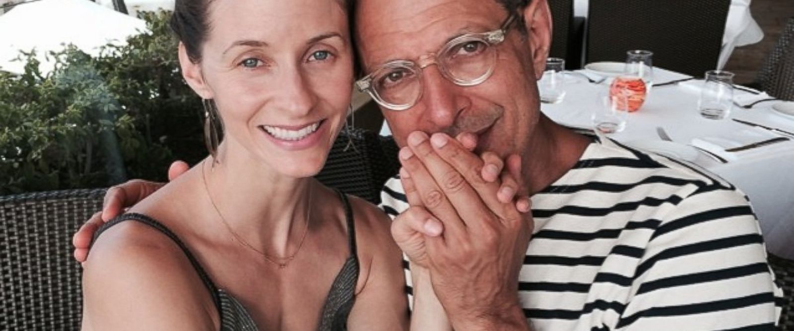 PHOTO: Emilie Livingston shared this photo of herself and Jeff Goldblum on Twitter, July 13, 2014.