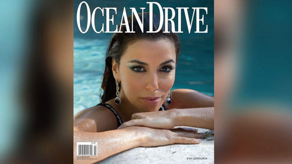PHOTO: Eva Longoria on cover of the March 2014 issue of Ocean Drive magazine.