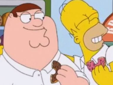 Watch What Happens When 'Family Guy' Meets 'The Simpsons'