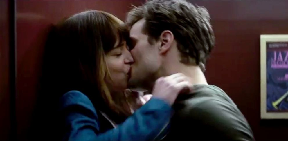 PHOTO: Dakota Johnson as Anastasia Steele and Jamie Dornan as Christian Grey in the Fifty Shades of Grey trailer.