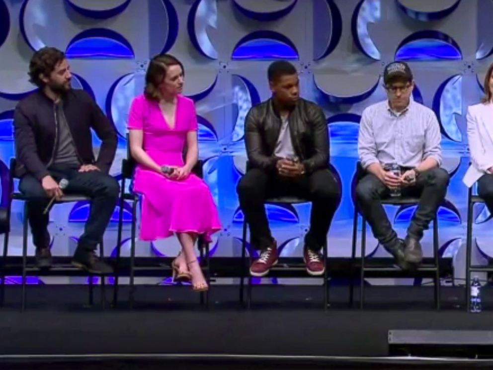 PHOTO: The cast of Star Wars: The Force Awakens discuss the new movie live during a panel at Star Wars Celebration Anaheim, April 16, 2015.