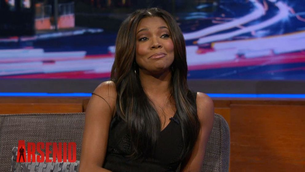 PHOTO: Gabrielle Union discusses her prenup with Arsenio Hall, Feb. 10, 2104.