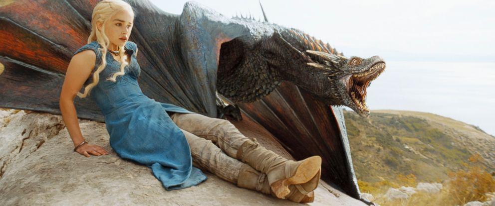 "PHOTO: Emilia Clarke as Daenerys Targaryen in season 4 of ""Game of Thrones."""