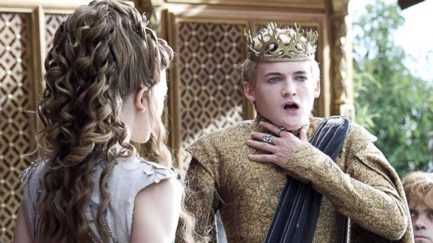 PHOTO: Natalie Dormer as Margery Tyrell, left, and Jack Gleeson as Joffrey Baratheon in a scene from Game of Thrones.