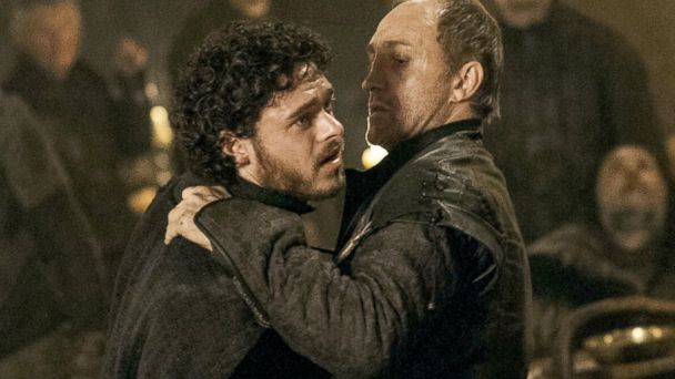 PHOTO: Richard Madden, left, as Robb Stark and Michael McElhatton as Roose Bolton in a scene from Game of Thrones.