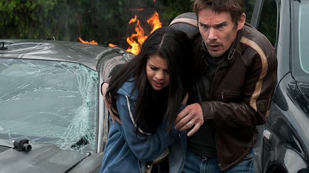 HT getaway gomez hawke tk 130829 16x9 608 Movie Review: The Most Redeemable Part of Ethan Hawke and Selena Gomezs Getaway?