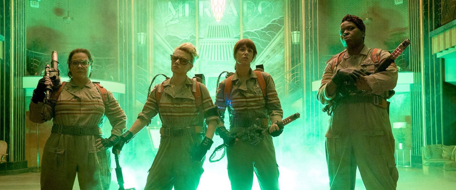 "PHOTO: Cast of the new ""Ghostbusters"" film in their first official photo."