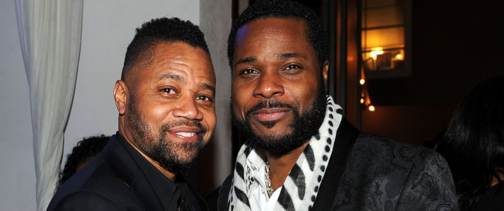 "PHOTO: Cuba Gooding Jr. and Malcolm-Jamal Warner at the party following the premiere of FXs ""The People v. O.J. Simpson: American Crime Story,"" Jan. 27, 2016 in Los Angeles."