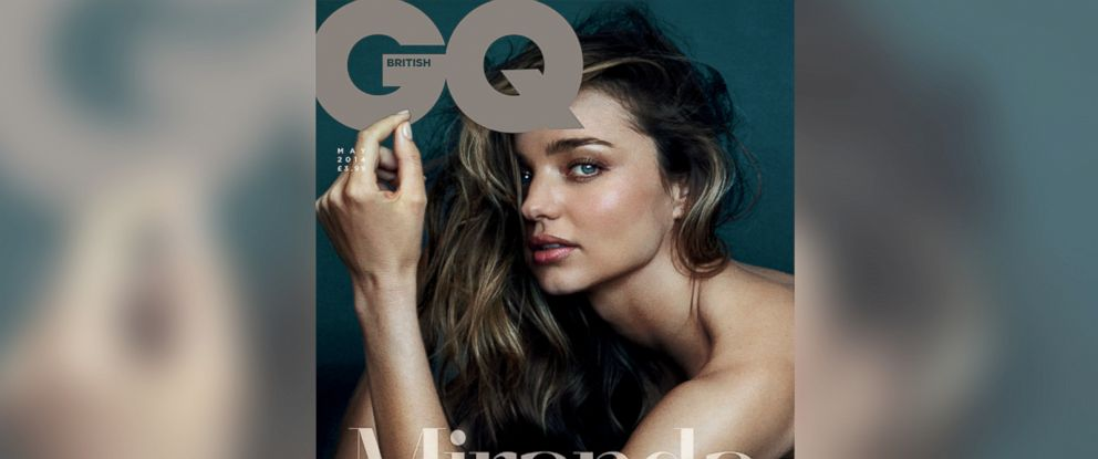PHOTO: Miranda Kerr appears on the cover of the May 2014 issue of British GQ.