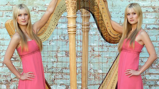 HT harp twins dm 130807 16x9 608 Harp Playing Twins Make Rock Music Sound Pretty