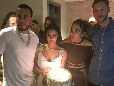 Kim Kardashian and Calvin Harris Celebrate Jennifer Lopezs Birthday