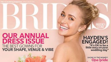 PHOTO: Hayden Panettiere poses on the cover of the April/May 2014 issue of Brides Magazine.