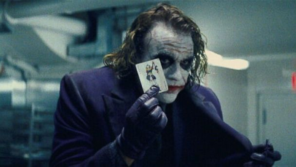 "PHOTO: Heath Ledger, as The Joker, in a scene ""The Dark Knight."""
