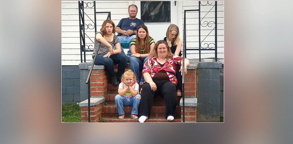 "PHOTO: Lauryn (Pumpkin), Mike (Sugar Bear), Jessica (Chubbs), Anna (Chickadee). Bottom L to R: Alana (Honey Boo Boo), June (Momma) of TLCs ""Here Comes Honey Boo Boo."""