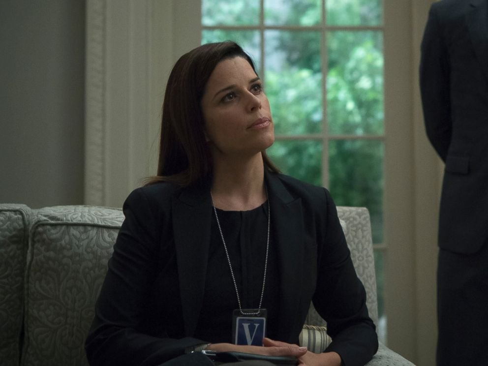 PHOTO: Neve Campbell in a scene from season 4 of House of Cards.