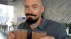 Hugh Jackman Celebrates Happy Hour