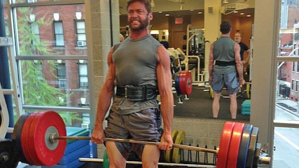 HT hugh jackman working out weight lifting thg 130802 16x9 608 Jacked Hugh Jackman Looks Ripped, Prepares For X Men: Days of Future Past