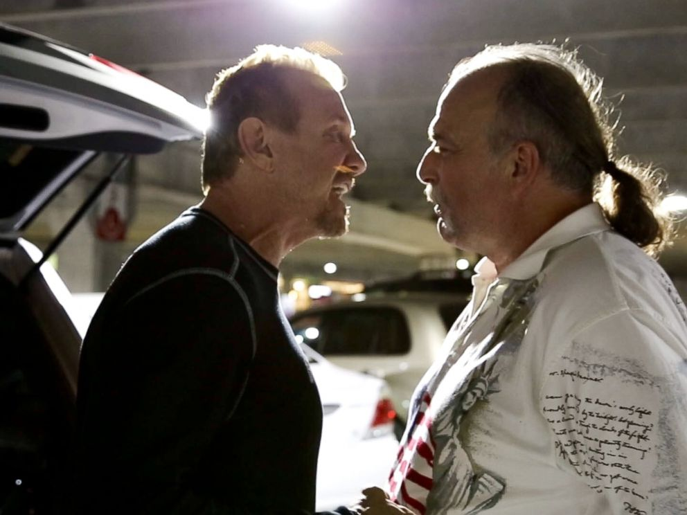 photo jake the snake roberts is seen with diamond dallas page in the documentary the