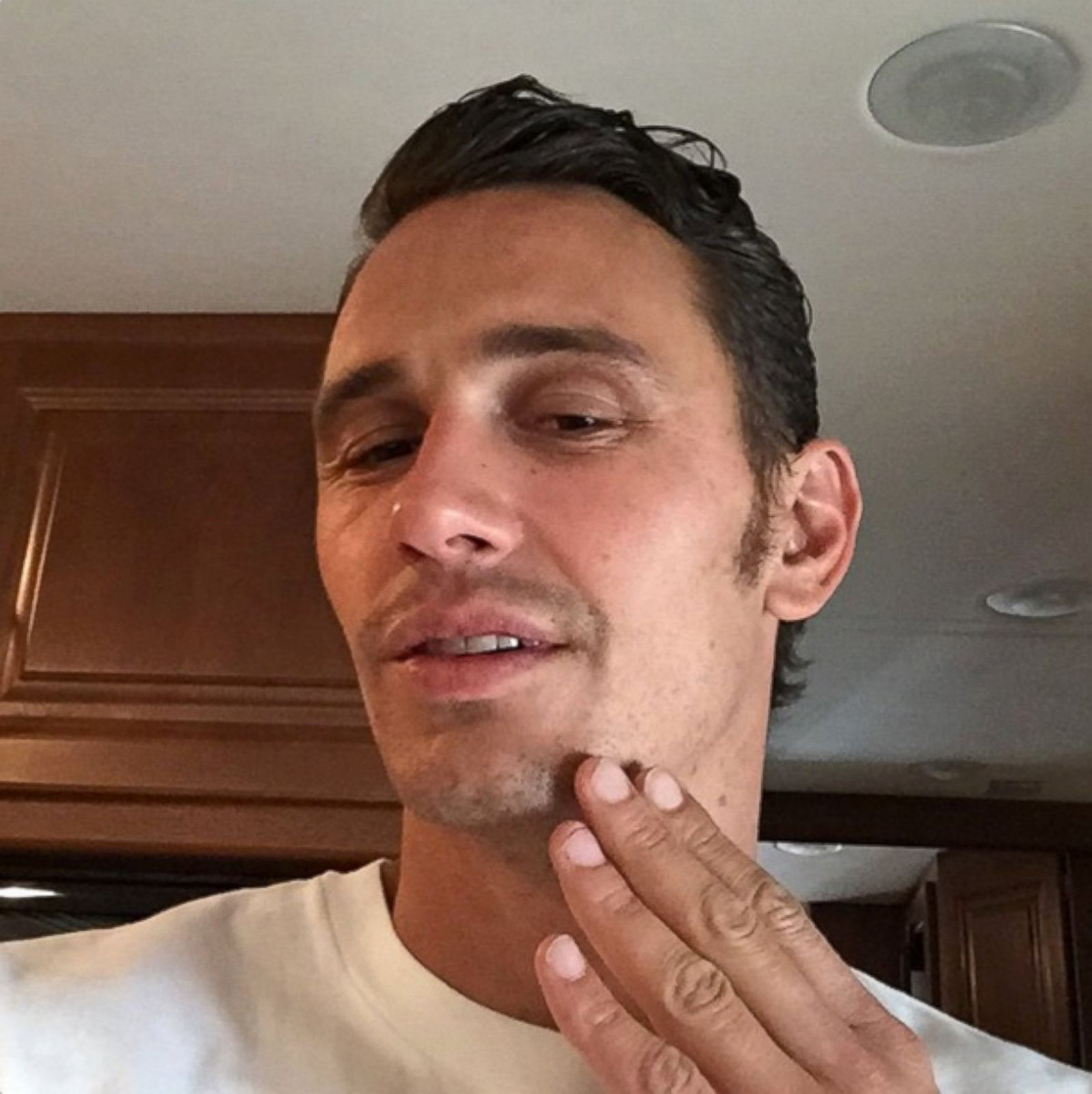See James Franco's Newest Look Picture | Celeb Self Portraits - ABC ...