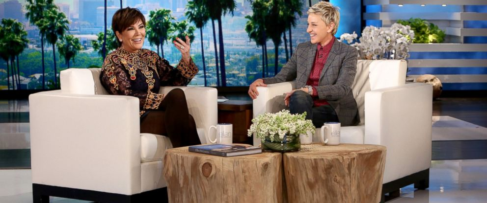 "PHOTO: Kris Jenner speaks to Ellen Degeneres on ""Ellen."""