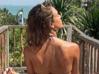 PHOTO: Jessica Alba Shows Some Skin and Some Yoga Skills