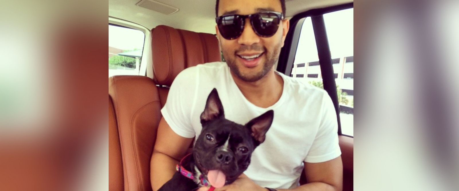"""PHOTO: John Legend shared this adorable photo of his new pup captioned; """"Meet our newest family member, Penny!"""" to his Instagram account, June 8, 2014."""