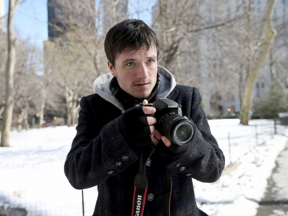 PHOTO: Josh Hutcherson filmed in Madison Square Park in New York City for Canons Project Imagination: The Trailer, Feb. 27, 2015.