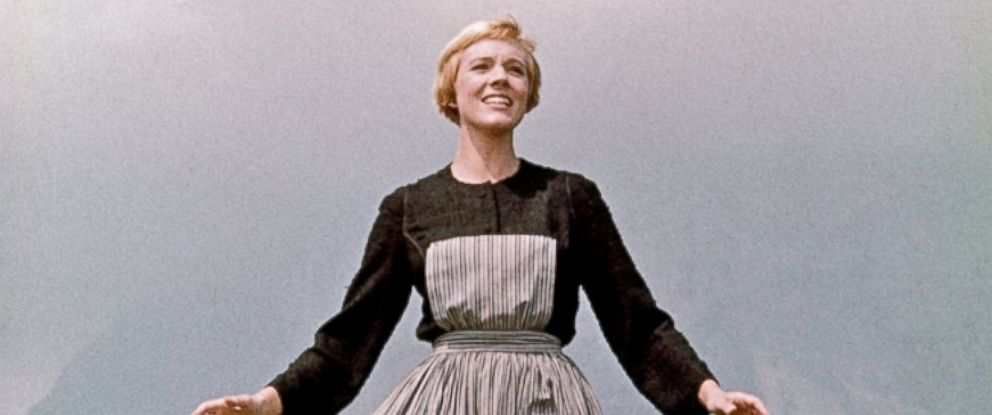 """PHOTO: Julie Andrews plays Maria in a scene from the 1965 film """"The Sound of Music."""""""