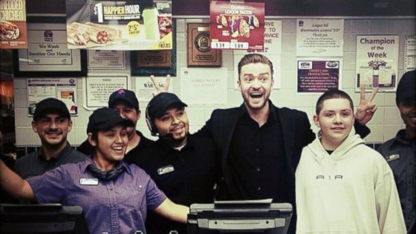 HT justin timberlake taco bell pca sk 140109 16x9 608 Instant Index: Justin Timberlake Stops at Taco Bell After Peoples Choice